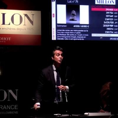México no frena subasta de arte en Francia; piezas arqueológicas se venden en 1.2 millones de euros