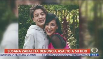 Susana Zabaleta denuncia asalto contra su hijo