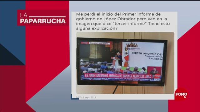 Foto: Tercer Informe Amlo Noticias Falsas 2 Septiembre 2019