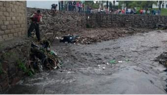 Foto: Las fuertes lluvias provocaron el desbordamiento de arroyo en Tlajomulco de Zúñiga, 8 de septiembre de 2019 (Noticieros de Televisa)