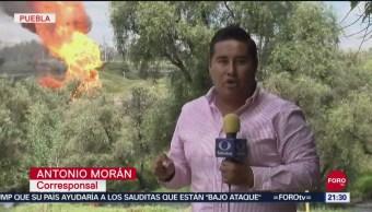 FOTO: Toma clandestina en Puebla deja seis trabajadores de Pemex lesionados, 16 septiembre 2019