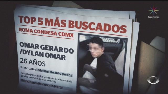 Foto: Top 5 Criminales Más Buscados Corredor Roma- Condesa 25 Septiembre 2019
