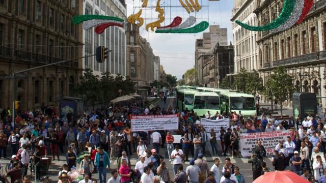 FOTO Transportistas CDMX amenazan con nueva movilización para el 17 de septiembre (Andrea Murcia/Cuartoscuro)
