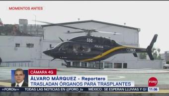 Trasladan órganos para trasplantes en hospital de la CDMX