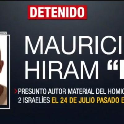 Trasladan a penal de máxima seguridad a presunto homicida de israelíes en Plaza Artz
