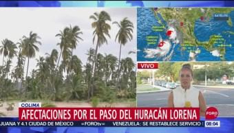Foto: Trayectoria Huracán Lorena Los Daños Paso