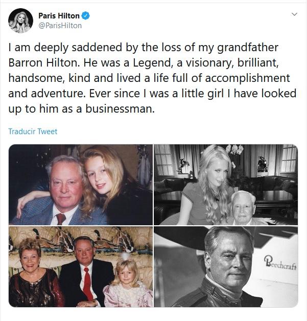 Mensaje de Paris Hilton