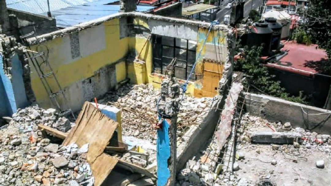 Foto: Vivienda afectada por el sismo del 19S, 19 septiembre 2019