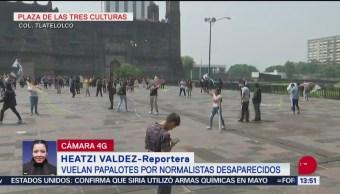 FOTO: Vuelan Papalotes Plaza Tres Culturas Por Normalistas Ayotzinapa