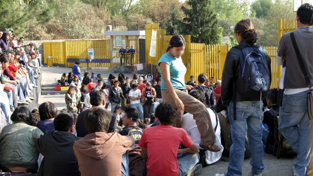 protesta de estudiantes del CCH-Sur