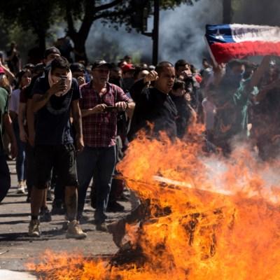 Las violentas protestas en Chile en imágenes