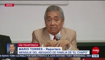 Abogado El Chapo ofrece mensaje tras balaceras Culiacán