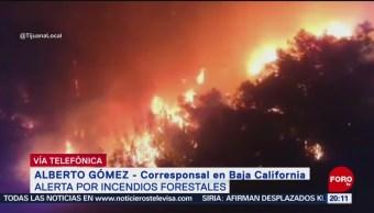 Foto: Incendios Ensenada Tecate Accesos Zonas Serranas Dificultan Control 25 Octubre 2019
