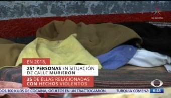 Al menos cinco indigentes mueren cada mes por ataques en CDMX