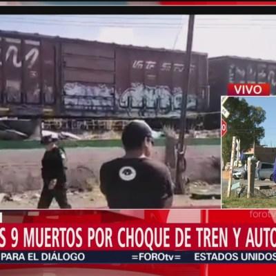 Al menos seis personas están graves tras choque entre autobús y tren en Querétaro