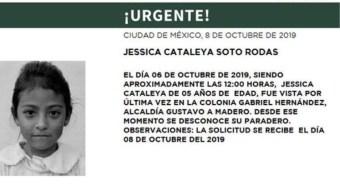 Foto Alerta Amber Ayuda a localizar a Jessica Cataleya Soto Rodas