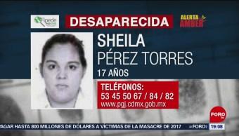 Foto: Alerta Amber Ayuda Localizar Sheila Pérez Torres 3 Octubre 2019