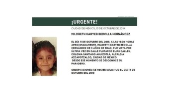 Foto Alerta Amber: Localiza a Mildreth Karyeb Bedolla Hernández