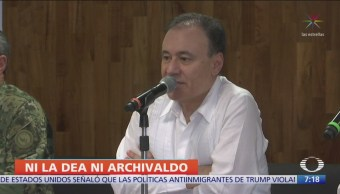 Alfonso Durazo niega que DEA participara en operativo de Culiacán