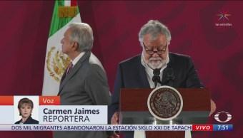 Alfonso Durazo presenta informe de seguridad