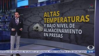 Altas temperaturas y escasez de agua en México