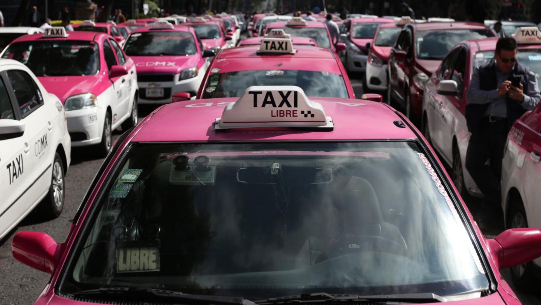 Foto: Los taxistas cancelaron la marcha prevista para el lunes, 20 de octubre de 2019 (Galo Cañas /Cuartoscuro.com)