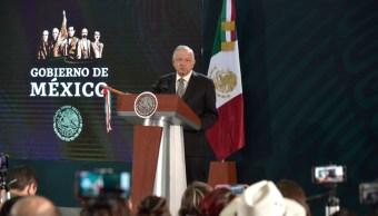Foto: El presidente Andrés Manuel López Obrador durante su conferencia matutina tras los hechos de violencia en Culiacán, Sinaloa, el 18 de octubre de 2019 (Cuartoscuro)