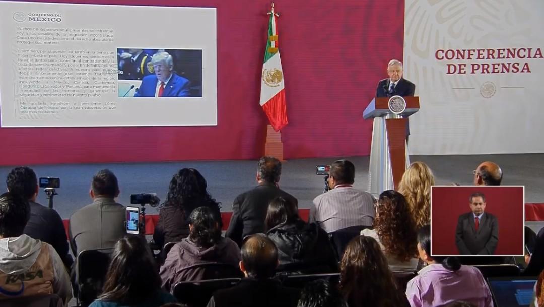 Foto: AMLO refrenda respeto entre naciones; destaca postura de Trump