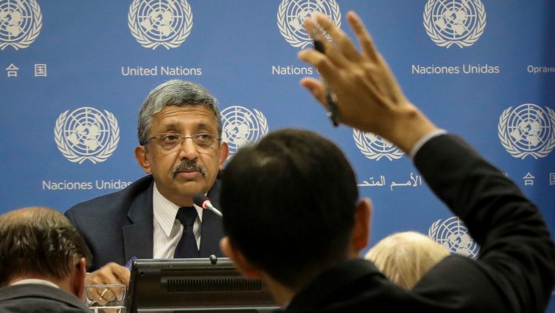Foto: Chandramouli Ramanathan, subsecretario general de finanzas de la ONU, 11 de octubre de 2019, (AP, archivo)