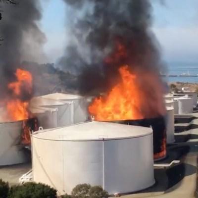 Se registra explosión e incendio en refinería de California