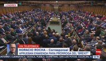 FOTO: Aprueban enmienda para prórroga del 'Brexit', 19 octubre 2019
