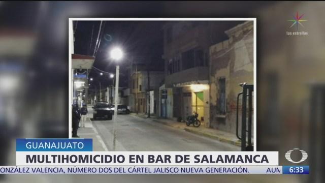 Asesinan a cinco personas en bar de Salamanca, Guanajuato