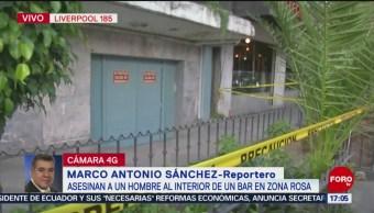 FOTO: Asesinan a hombre en bar de la Zona Rosa, 13 octubre 2019