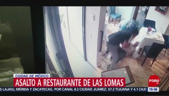 Foto: Video Momento Asalto Restaurante Las Lomas 15 Octubre 2019