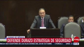 Foto: Comparecencia Durazo Senado Operativo Culiacán 31 Octubre 2019
