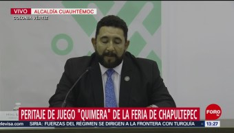 FOTO: Autoridades ofrecen dictamen accidente Feria Chapultepec