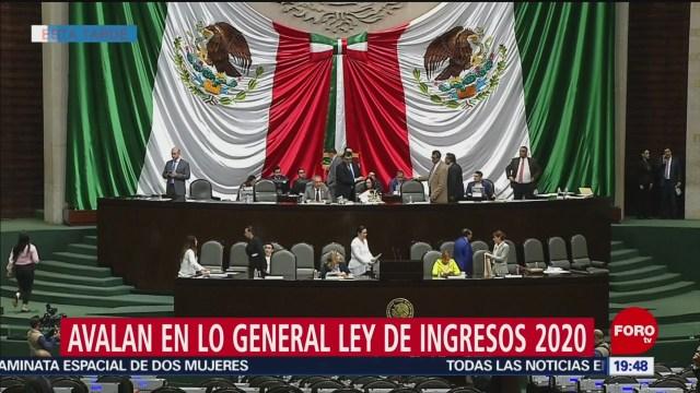 Foto: Avalan General Ley Ingresos 2020 Cámara Diputados 18 Octubre 2019