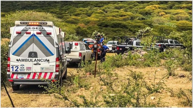 Foto: Mueren dos tras desplome de avioneta, 20 de octubre de 2019 (Protección Civil de Querétaro)