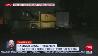 Foto: Balacera San Juan De Aragón GAM Dos Muertos Hoy 23 Octubre 2019