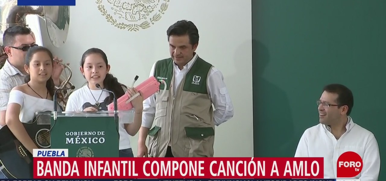 FOTO: Banda infantil de compone canción a López Obrador, 5 octubre 2019