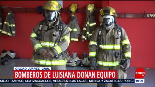 Foto: Bomberos Estadounidenses Donan Equipo Colegas Mexicanos 3 Octubre 2019