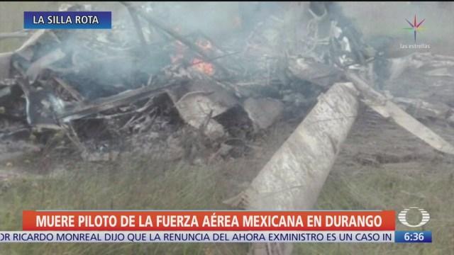 Cae helicóptero de la Fuerza Aérea en Durango