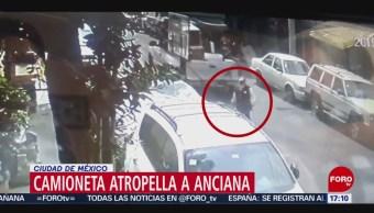 FOTO: Video Camioneta Atropella Una Mujer Tercera Edad CDMX