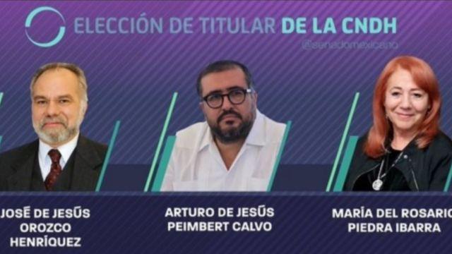Foto: Candidatos para presidir la CNDH