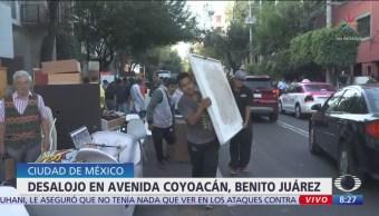 Caos vehicular en Avenida Coyoacán por desalojo de departamentos