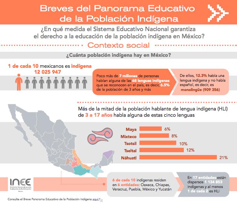 Foto:Breve Panorama Educativo de la Población Indígena. Octubre 2019.