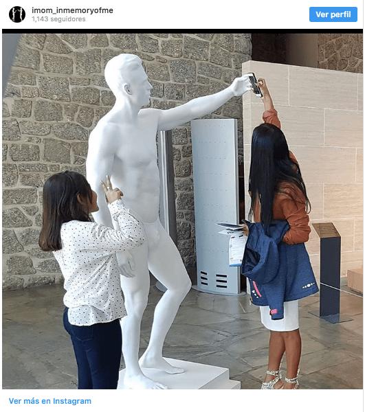 Foto: instagram Stéphane Simon unesco pide que vista esculturas. 31 Octubre 2019