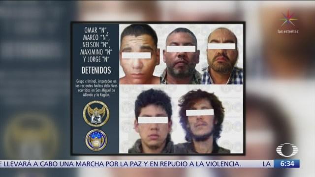 Capturan a 10 sicarios en Guanajuato