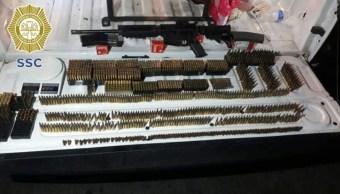 Foto: El detenido tenía en su poder más de 1350 cartuchos de diferentes calibres, el 21 de octubre de 2019 (SSC)