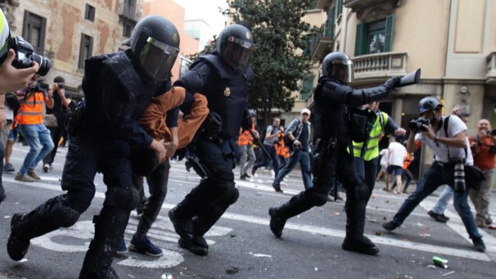 Cataluña vive jornada de huelga general, con manifestaciones, 18 de octubre de 2019, Barcelona